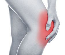A sore inflamed arthritic knee