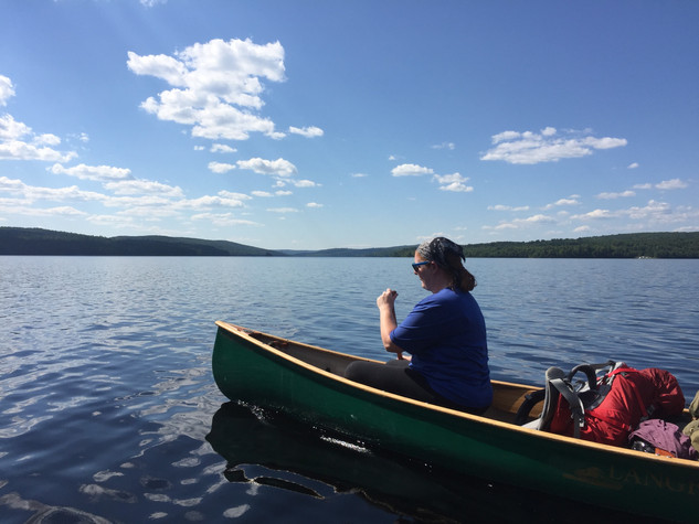 Canoeing on a gorgeous day