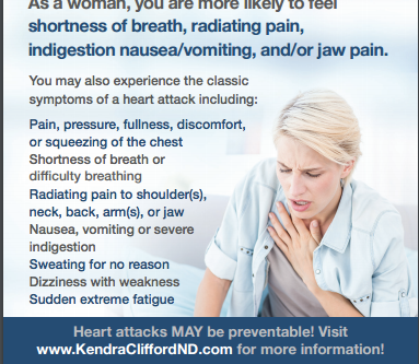 Would you recognize the signs of a heart attack in a woman?