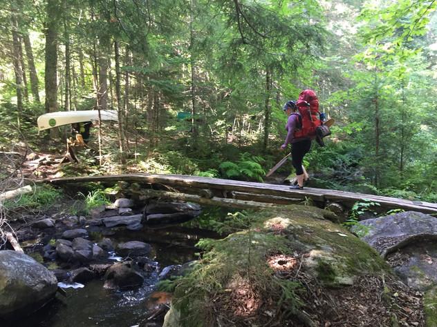 Hiking a portage
