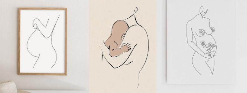 pregnancy illustrations yoga
