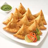 Punjabi Samosa With Chutney Stock Photo