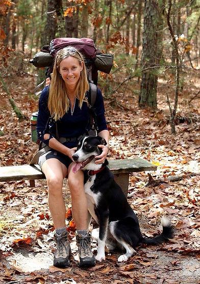 Ellen with dog