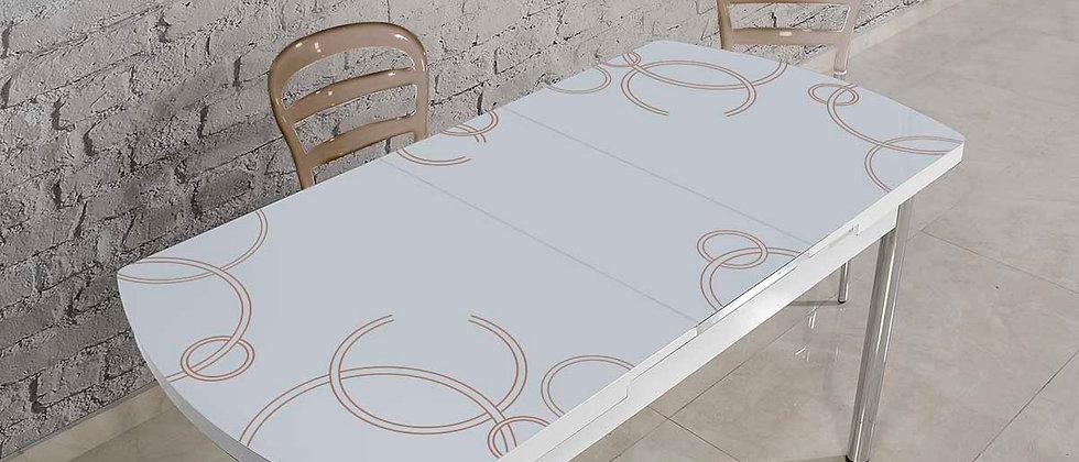 שולחן דגם ונציה צבע מוקה