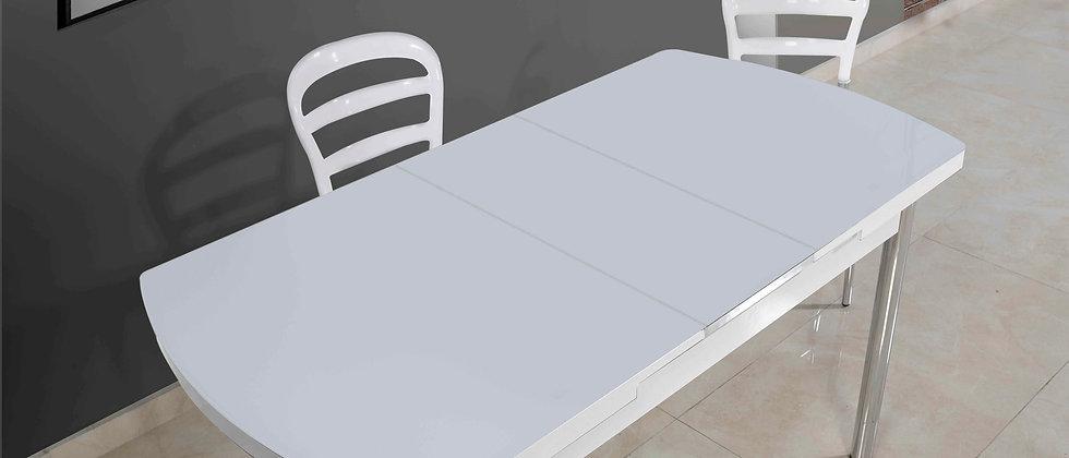 שולחן דגם דקל צבע לבן