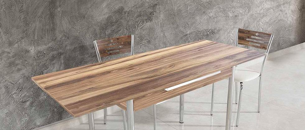 שולחן דגם כנרת צבע אגוז