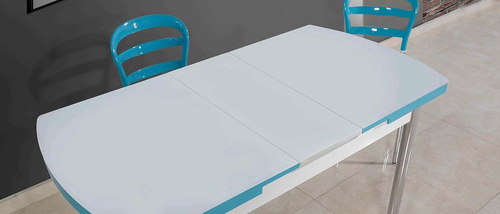 שולחן דגם דקל צבע טורכיז