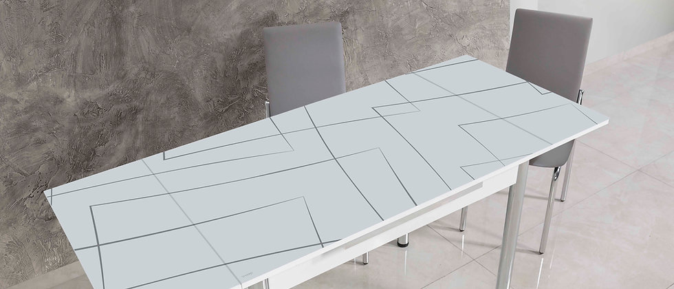 שולחן דגם יסמין צבע אפור