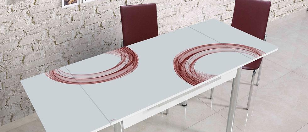שולחן דגם רקפת צבע שזיף