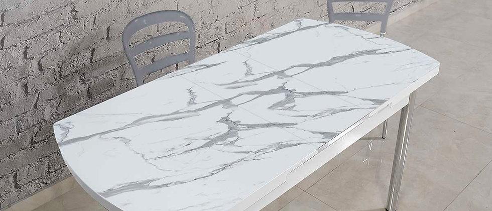 שולחן דגם שיש צבע אפור