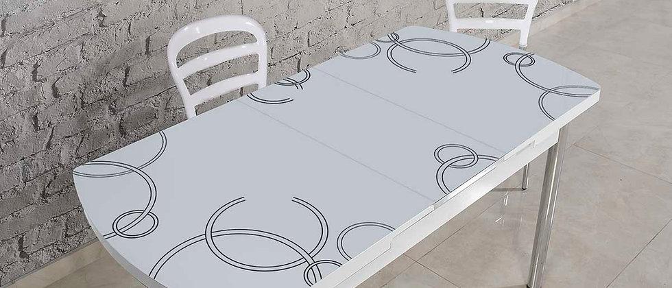 שולחן דגם ונציה צבע שחור