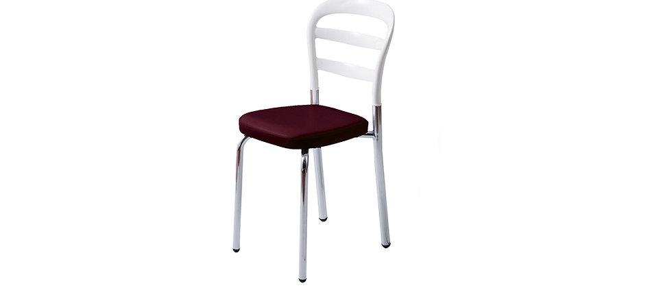 כסא דגם דקל צבע לבן עם מושב שזיף