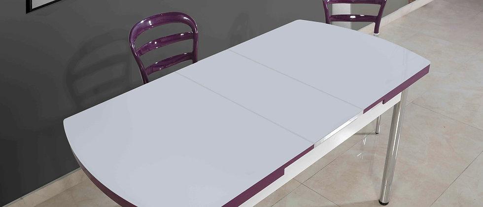 שולחן דגם דקל צבע סגול