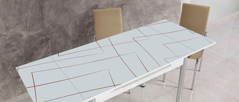 שולחן דגם יסמין צבע מוקה