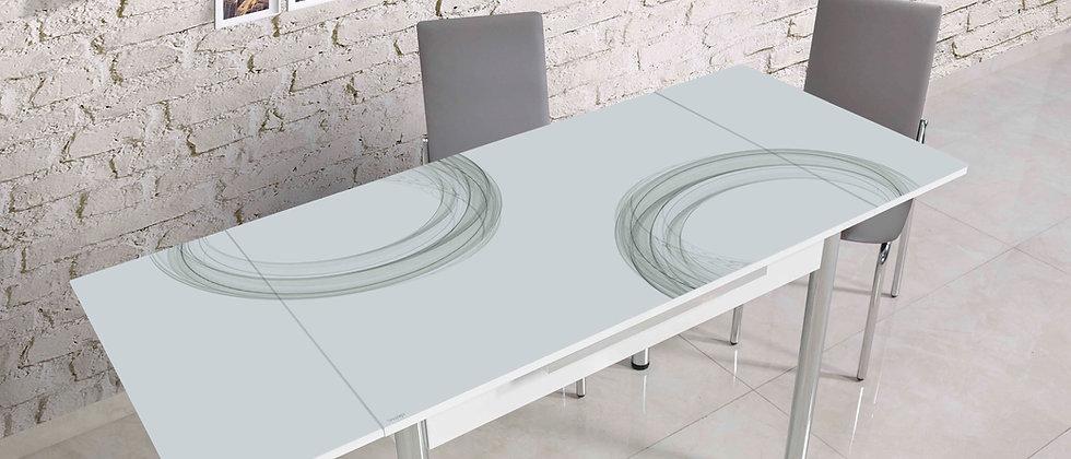 שולחן דגם רקפת צבע אפור ירקרק