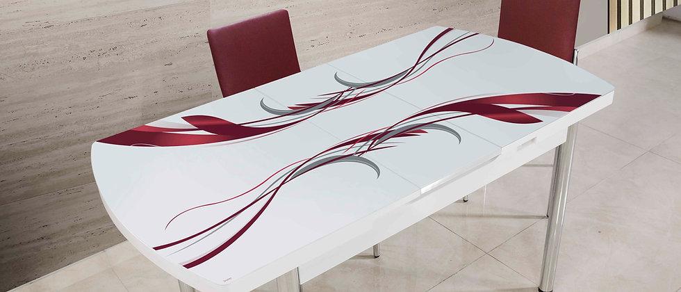 שולחן דגם גלים צבע שזיף