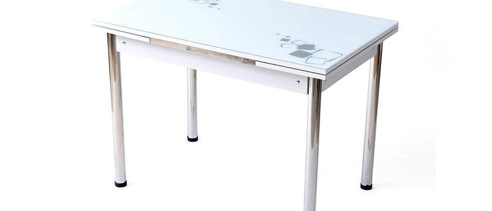 שולחן מיני יסמין 60*90 צבע לבן דיגום אפור