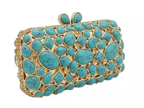 Turquoise Agate Stone Bag