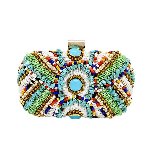 Mexico Clutch Turquoise Stone