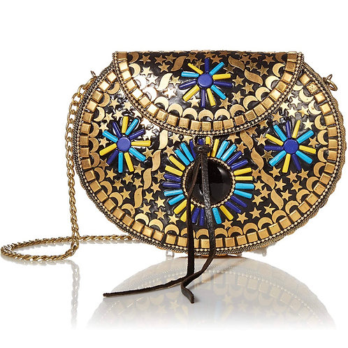 Mother of Pearl Iron embellished crossbody