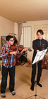 A junior high school student receiving private lessons from ALTO founder and volunteer tutor, Kai Keltner