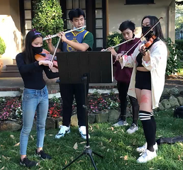 A group of MTM tutors performing for a fundraising event in San Francisco