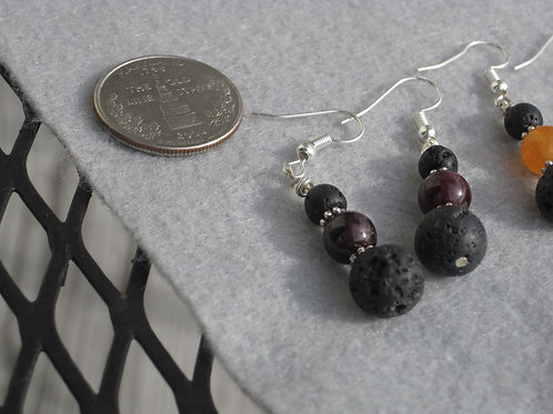 1st Chakra (Root) Lava Earrings