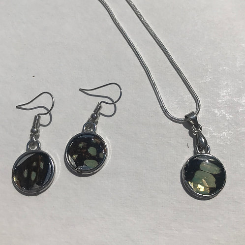 Matching earrings and necklace w/ small pendant