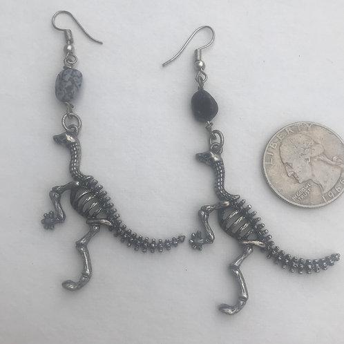 Raptor Earrings with Gembone