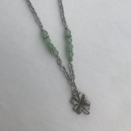 Lucky clover anklet with Green Aventurine