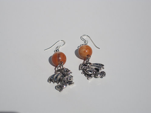 Dragon Fire Agate Earrings