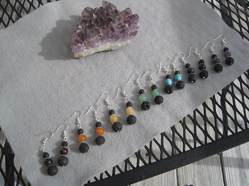 7th Chakra (Crown) Lava Earrings