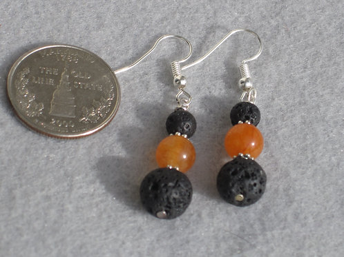 2nd Chakra (Sacral) Lava Earrings