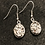 Thumbnail: Faux Silver Drusy earrings
