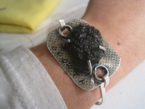 "Moldavite ""Growth"" Bracelet"