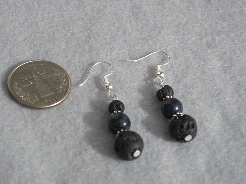 6th Chakra (Third Eye) Lava Rock Earrings