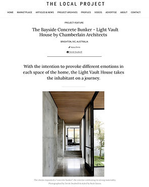 The Local Project - The Light Vault Hous