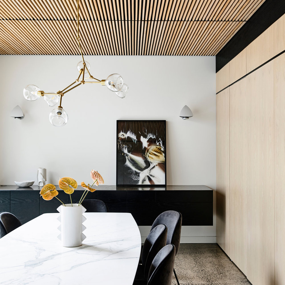 Wainwright Facades timber cladding ceiling feature