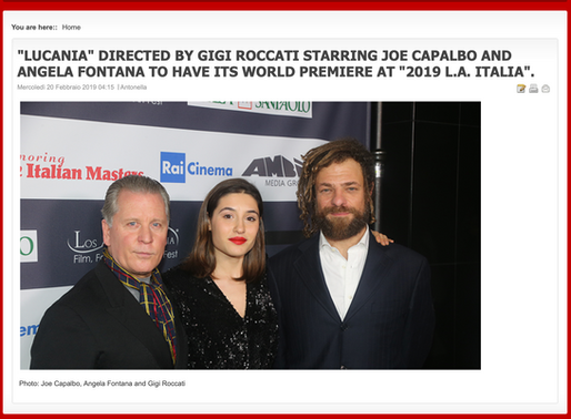 "Los Angeles. World Premiere di ""Lucania"" Terra Sangue e Magia."