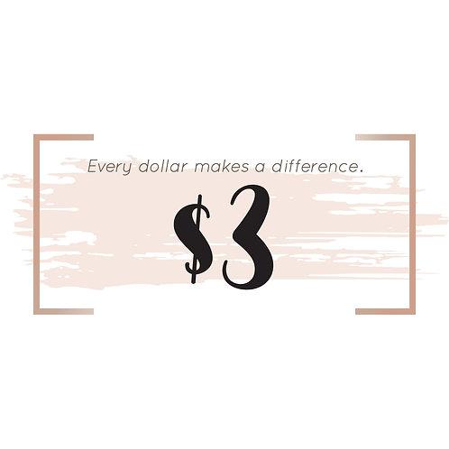 $3 Donation