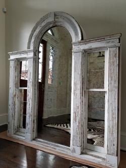 Antique mirror in frame