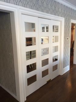mirrored door panels