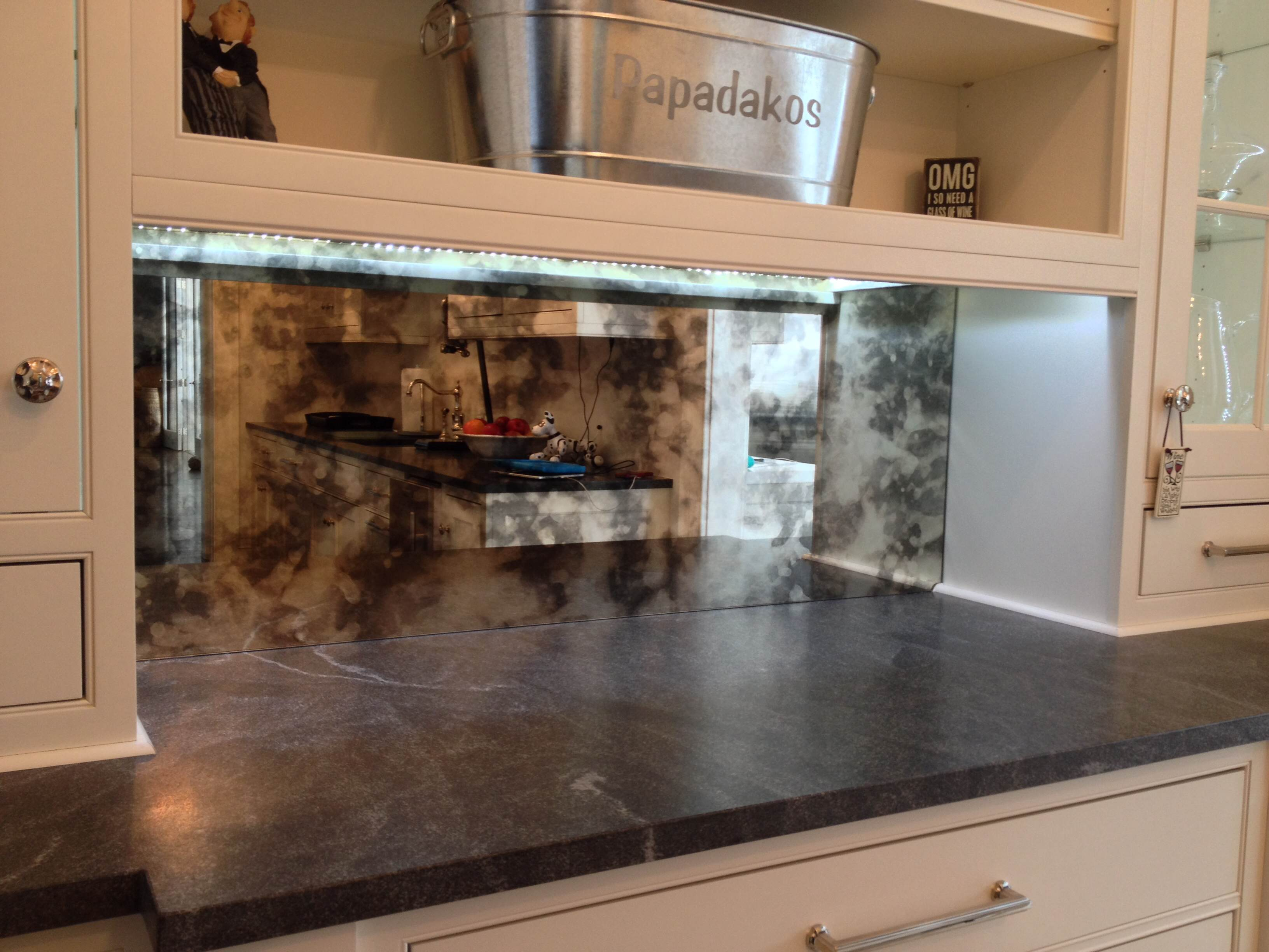Moonstone backsplash
