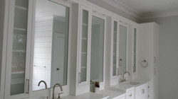 Vanity mirror and acid etched cabinets