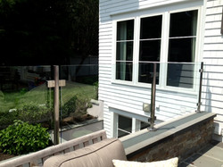 Glass rail with posts