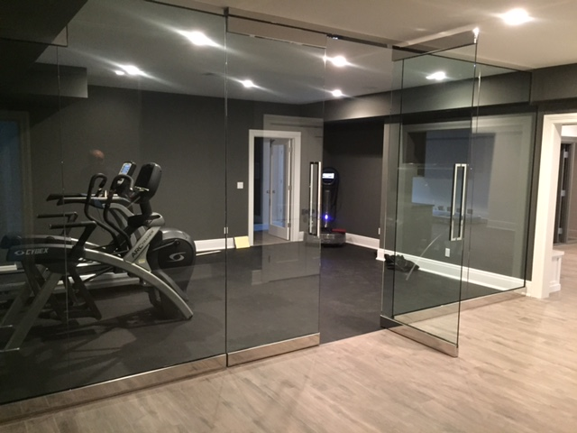 Exercise room inside door open