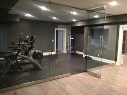 Exercise room inside door open