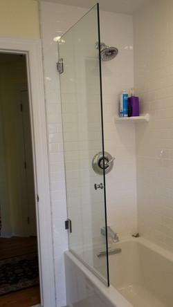 HInged spray panel