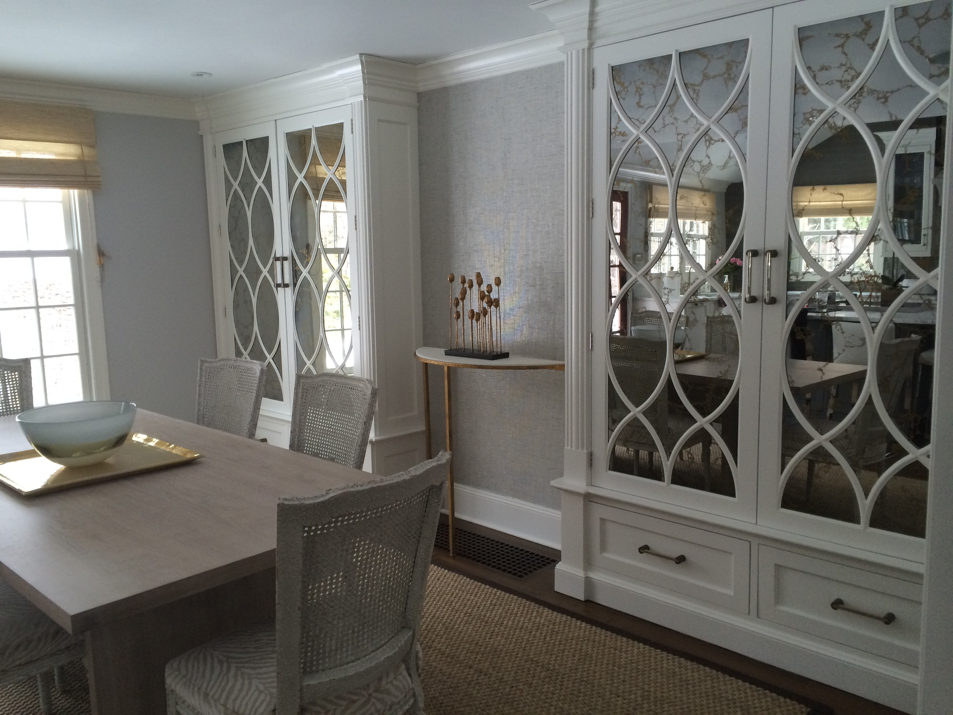 gold antique cabinets
