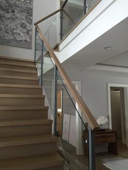 Interior rail at stair